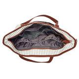 Saco do tecido do bebê do curso da lona com almofada em mudança, cintas de ombro ajustáveis