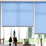 Голубые шторки окна занавесов навеса офиса шторок ролика цвета