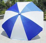 De hand Open Paraplu van het Strand van de Zon Witte en Blauwe met Kleine MOQ