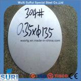 2b/BA/8K de superficie del espejo Ciclo de acero inoxidable de grado 201 Ss círculo
