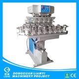 Dongguan Semi-Auto cuatro Pad Color impresora con mesa de trabajo de transportador