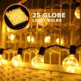 G40 indicatori luminosi di natale d'argento dell'indicatore luminoso della stringa del collegare LED con 48PCS E17bulbs