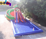 Spel van het Park van het Water van de stijl van Gragon het Opblaasbare Verwijderbare