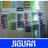 Impermeables adhesivos respetuosos del medio ambiente crean la escritura de la etiqueta del frasco para requisitos particulares del holograma de la Anti-Falsificación 10ml