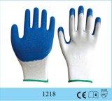 Красная перчатка сжатия безопасности ладони Crinkle перчатки латекса полиэфира