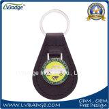 Corrente chave do couro relativo à promoção da corrente chave da forma da corrente chave