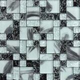 熱いガラスエナメルのモザイク・タイルの花模様