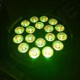 Fase caliente DJ 18x15W 5en1 PAR LED lámpara puede
