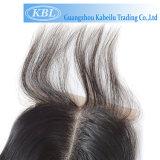 Virgem macios cabelos feitos à mão 13X4 para mulheres de encerramento
