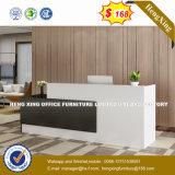 Couleur blanche du mobilier de bureau Bureau de la mélamine Table de réception (HX-8N2436)