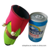 Le néoprène isolé par cadeau fait sur commande de Noël peut support tronqué à bière de chemise plus fraîche de bouteille