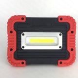 Indicatore luminoso ricaricabile del lavoro della PANNOCCHIA 10W LED del USB della plastica con la Banca di potere (WL-1065)