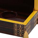El lujo de terciopelo de madera personalizados hechos a mano la caja de regalo de recuerdo de la moneda