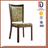 Restaurante de madera del estilo de la falsificación amarillenta italiana de la tela que cena la silla