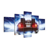 Cartel fresco de pintura impreso HD abstracto del coche de la película del panel del marco del petróleo del arte de la pared de la lona 5 para la decoración del hogar de la sala de estar