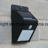 luz de la pared del sensor solar de 4PCS LED