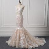 Fishtail шнурок платья венчания W18782 невесты нового