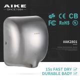 Dessiccateur électrique de main de détecteur automatique de bille (acier de SS304 Satinless, AK2801)