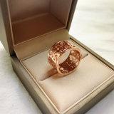 Antike Schmucksachenrhodium-Höhlung geschnitzte christliche Finger-Ringe
