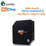 II Amlogic S912 Octa 코어 인조 인간 6.0 텔레비젼 상자 플러스 M8s