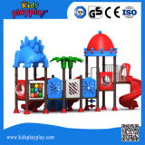 Tipo de parque infantil exterior e parque infantil de plástico da parte de metal e plástico