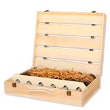 À la main de luxe 6 bouteille de vin en bois paulownias Box