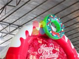 Bester Entwurfs-aufblasbares Weihnachtsschloß/aufblasbares federnd Haus/aufblasbares Weihnachtsplättchen