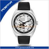 Relógio de pulso de esqueleto automático dos homens do cronógrafo do seletor de Japão da alta qualidade
