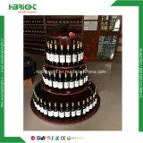 Het Opschortende Rek van de Gondel van de Wijn van de Supermarkt van de luxe