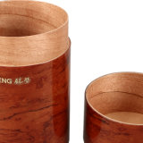 호화스러운 Customized Cylinder Tea Packaging Box 또는 Wooden Gift Tea Box
