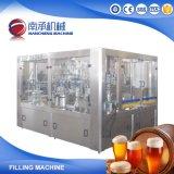 Llenar la botella de vidrio de alta precisión de la máquina de embotellamiento de llenado de cerveza