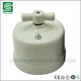 Interruptor rotatorio de la porcelana montada en la pared de la vendimia