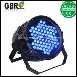 À prova de água 72HP*3W 3 em 1 LED de alta potência de luz PAR LED de lavagem na parede