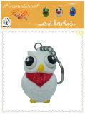 Geschenke für Kind-Augen-knallendes weißes Eulen-Tier Keychain