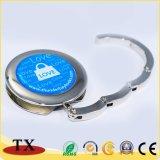 Gancho Foldable redondo relativo à promoção do saco do metal com etiqueta