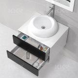 Künstliches kleines Badezimmer-Schrank-Steinbassin
