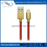 iPhone van Mfi 7 6s plus 5s de Snelle het Laden Bliksem van Sync van de Gegevens van de Kabel van het Leer aan Koord USB