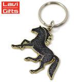 Китая изготовлений сувенир Keychain металла лошади двойного пробела способа оптовой продажи дешево выдвиженческий изготовленный на заказ с логосом отсутствие минимума