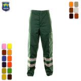Bande réfléchissante de haute qualité coton Pantalon de travail avec coussinet de genou