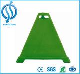 cone azul elevado do PE da pirâmide de 600mm para a segurança de estrada