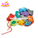 Giocattoli di legno dell'allacciamento del gioco educativo del cervello dei bambini con multi figura W11e072 dei pesci