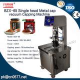 Einzelnes Hauptmetallschutzkappen-Vakuummit einer kappe bedeckende Maschine für Getränk (BZX-65)