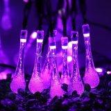 21ft 30 TIRA DE LEDS Gota de Agua Solar en el exterior de las luces de Hada Jardín Lámpara de iluminación de la cadena Halloween