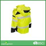 Куртки безопасности померанцовой зимы высоких людей видимости отражательные
