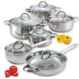 ステンレス鋼18/10の鍋の調理器具一定の鍋および鍋の12部分