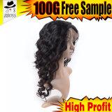 Парик волос бразильского Silk переднего парика шнурка