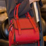 Novas mulheres modernas bolsas de couro feminina Lady Crossbody Top-Handle Sacos amarra
