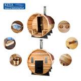 Sauna esterna del barilotto di sauna di qualità superiore bella
