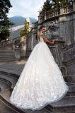Vestido de casamento nupcial da esfera a mais nova de Champagne do laço