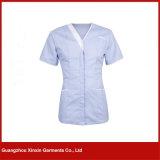 O hospital bonito médico feito sob encomenda da V-Garganta das mulheres nutre o uniforme (H15)